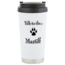 Mastiff Talk Travel Coffee Mug