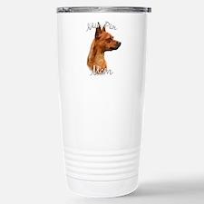 Min Pin Mom2 Travel Mug