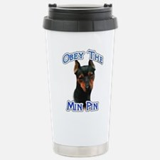 Min Pin Obey Travel Mug