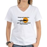 Flying used to be fun Women's V-Neck T-Shirt
