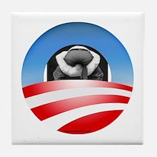 """Typical Obama Supporter"" Tile Coaster"