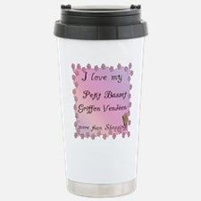 PBGV Shopping Stainless Steel Travel Mug