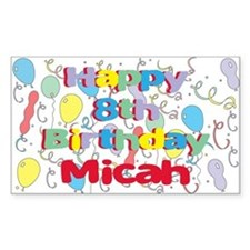 Micah's 8th Birthday Rectangle Decal
