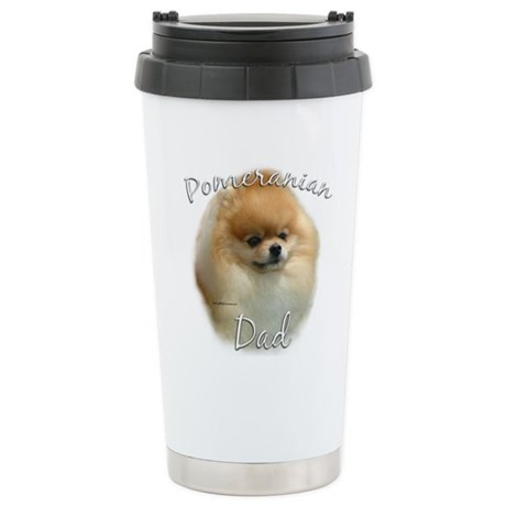 Pomeranian Dad2 Stainless Steel Travel Mug