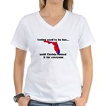 Voting used to be fun Women's V-Neck T-Shirt