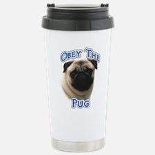 Pug Obey Travel Mug