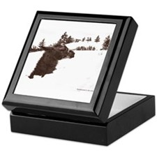 Llama in Snow Keepsake Box