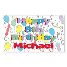 Michael's 8th Birthday Rectangle Decal