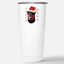 Santa Paws Rottweiler Stainless Steel Travel Mug