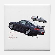 Carrera & Boxster Tile Coaster