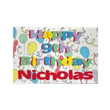 Nicholas's 9th Birthday Rectangle Magnet