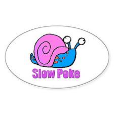 Slow Poke Snail Oval Decal