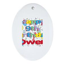 Owen's 9th Birthday Oval Ornament