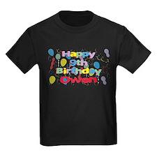 Owen's 9th Birthday T