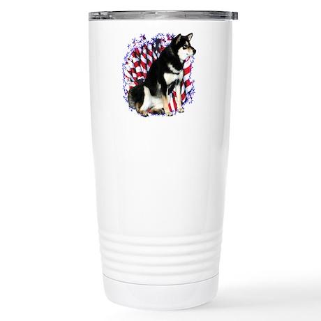 Shiba(blk) Patriot Stainless Steel Travel Mug