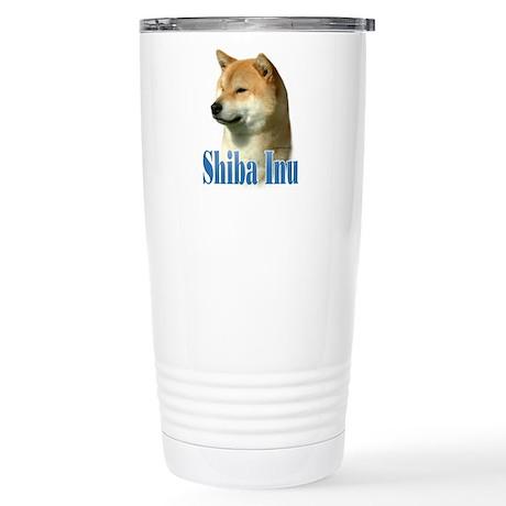 Shiba Name Stainless Steel Travel Mug