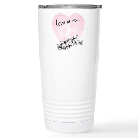 Love is my Wheaten Stainless Steel Travel Mug