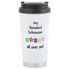 Standard Schnauzer Walks Travel Mug