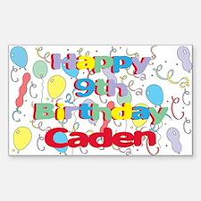 Caden's 9th Birthday Rectangle Decal