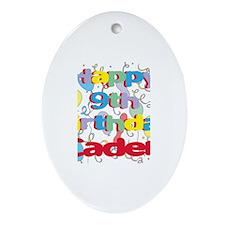 Caden's 9th Birthday Oval Ornament