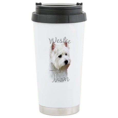 Westie Mom2 Stainless Steel Travel Mug
