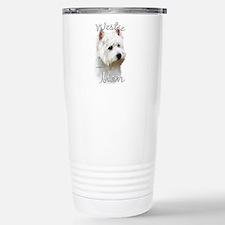 Westie Mom2 Stainless Steel Travel Mug