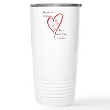 Wire Fox Heart Belongs Travel Mug