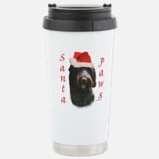 Santa Paws Wirehaired Stainless Steel Travel Mug