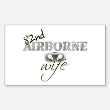 82 Airborne Wife Rectangle Decal