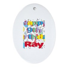 Ray's 9th Birthday Oval Ornament