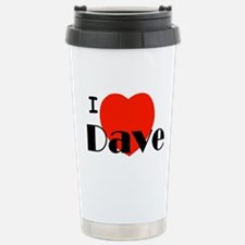 I Love Dave Travel Mug