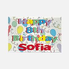 Sofia's 8th Birthday Rectangle Magnet