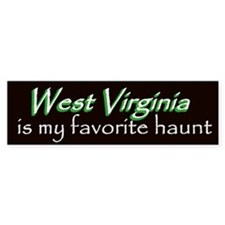 West Virginia Haunt Bumper Sticker - Green
