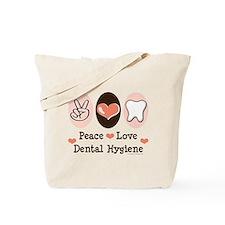Peace Love Dental Hygiene Tote Bag