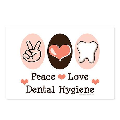 Peace Love Dental Hygiene Postcards (Package of 8)