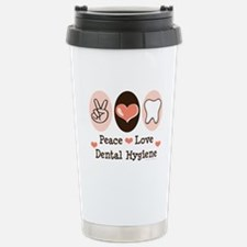 Peace Love Dental Hygiene Travel Mug