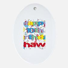 Shawn's 10th Birthday Oval Ornament