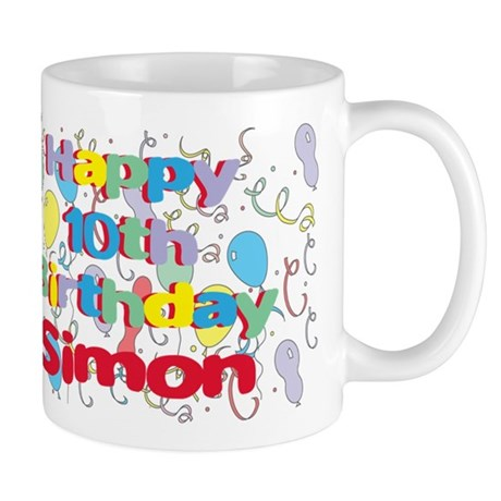 Simon's 10th Birthday Mug