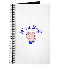 It's A Boy! (Baby Face) Journal