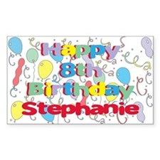 Stephanie's 8th Birthday Rectangle Decal