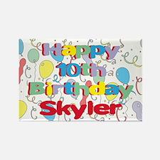 Skyler's 10th Birthday Rectangle Magnet