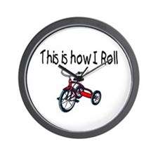 This Is How I Roll (Tricycle) Wall Clock