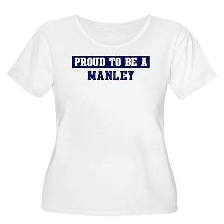 Proud to be Manley Women's Plus Size Scoop Neck T-