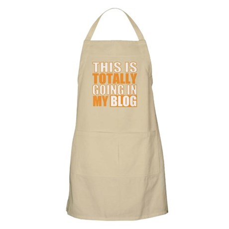 Going in my Blog BBQ Apron