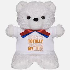 Going in my Blog Teddy Bear