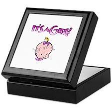 It's A Girl! (Baby Face) Keepsake Box