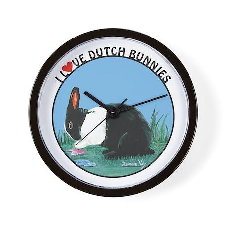 Love Dutch Rabbit Wall Clock