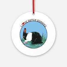 Love Dutch Rabbit Ornament (Round)