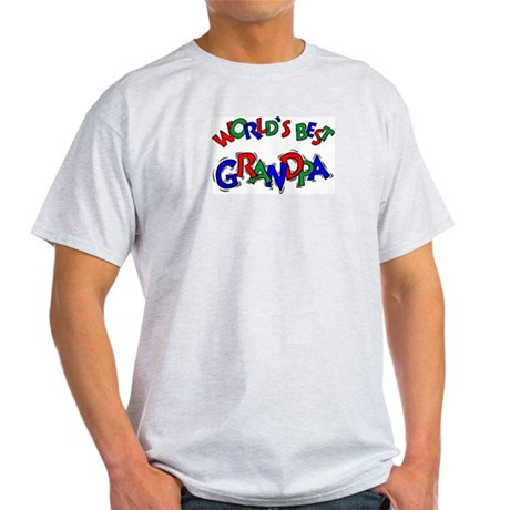 World's Best Grandpa Ash Grey T-Shirt