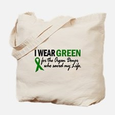 I Wear Green 2 (Saved My Life) Tote Bag